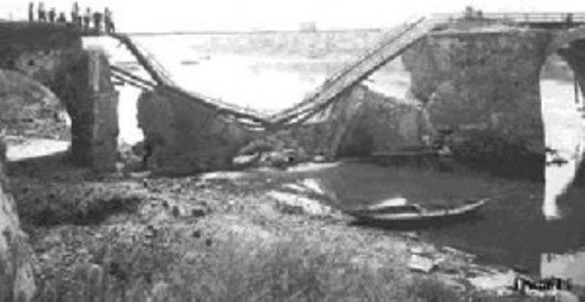 Il Ponte Vecchio distrutto dai bombardamenti