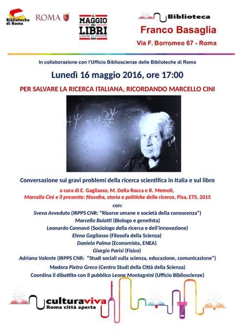 Salviamo la ricerca - Marcello Cini