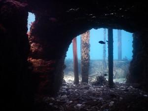 Fig. 11: Cartaromana, la galleria scavata in uno degli scogli di Sant'Anna.