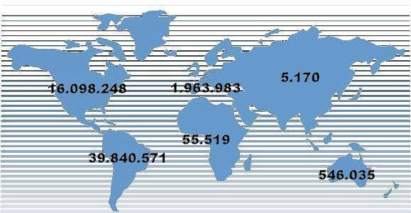 Oriundi nel mondo. Fonte www.chiesacattolica.it