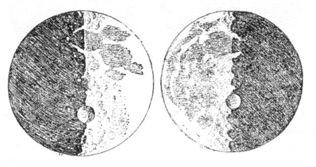 Galileo Galilei, Sidereus Nuncius, La Luna