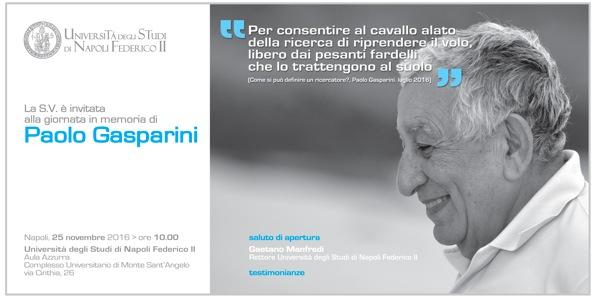 Giornata in memoria di Paolo GASPARINI_25_11_2016