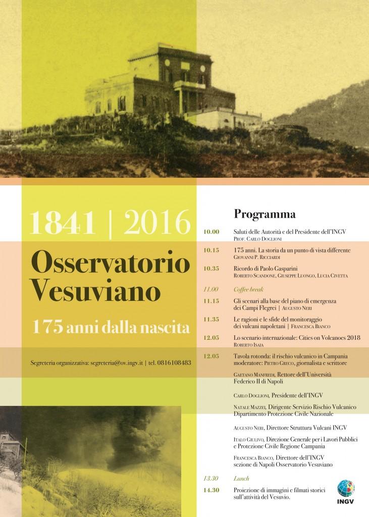 175 anni osservatorio vesuviano