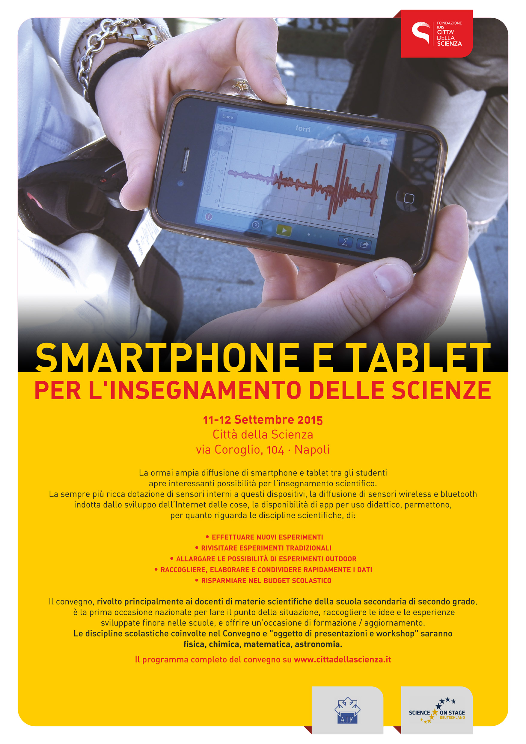 Smartphone & Science September 11th – 12th