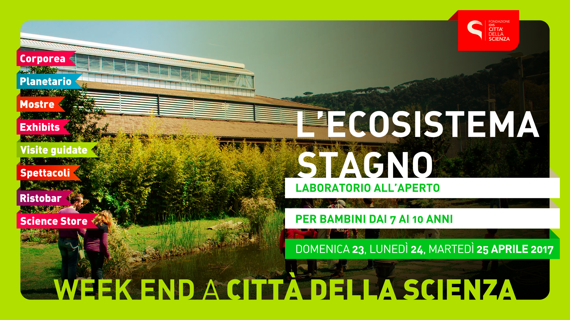 Adv week end aprile 2017 for Ecosistema stagno