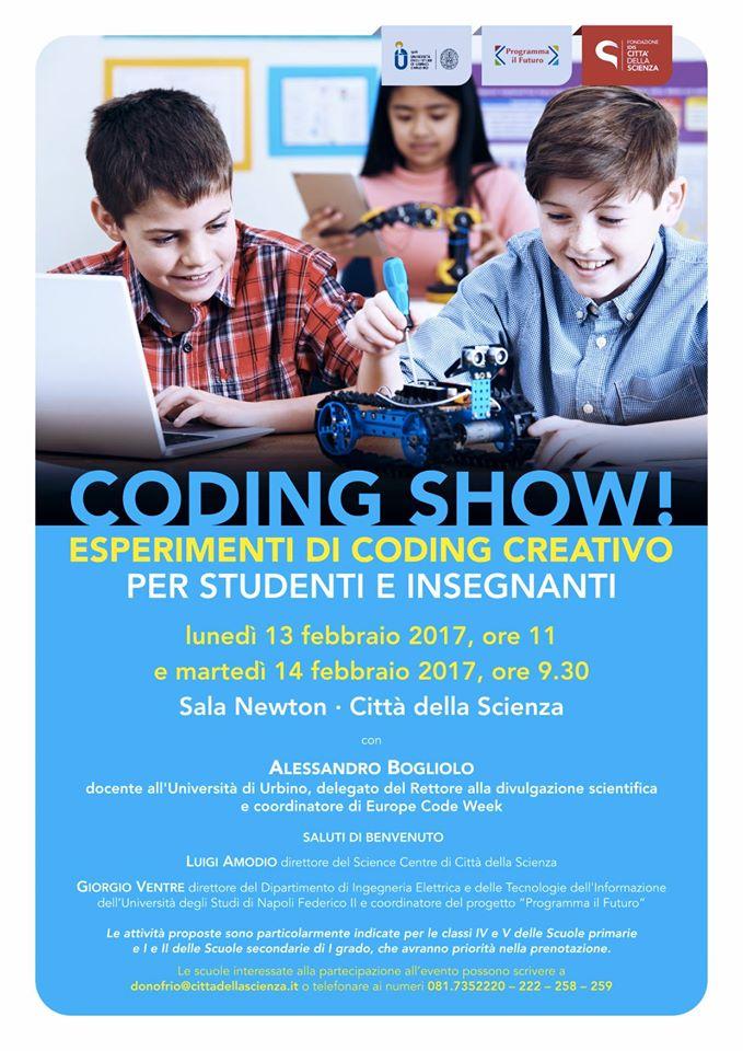 coding show esperimenti di coding creativo per studenti e insegnanti