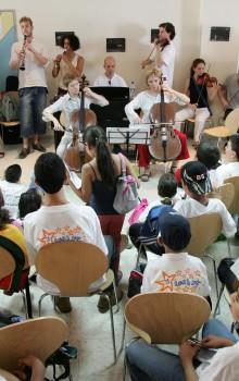 concerto al campo profughi Al Fawwar, Hebron