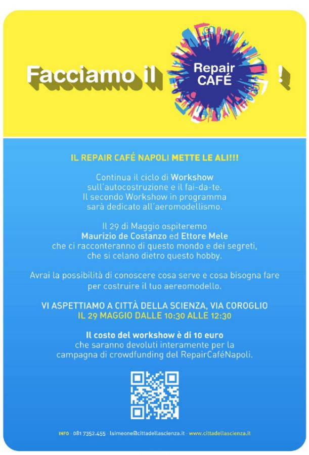 repair cafe workshop 29 maggio